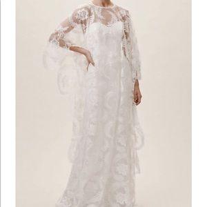 BHLDN WHITE WEDDING CAPE